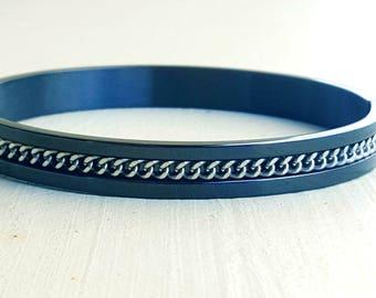 Mens bracelet black stainless steel