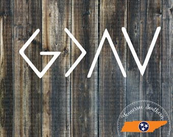 God Is Greater Than The Highs and Lows Decal | Faith Decal | Christian Decal | Car Decal | Yeti Decal | Tumbler Decal | Phone Decal