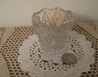 Glass Toothpick Holder, Imperial Glass