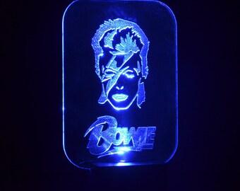 David Bowie, LED Night light, USB led lamp, Blackstar, Ziggy Stardust, David Bowie gift, David Bowie souvenir,
