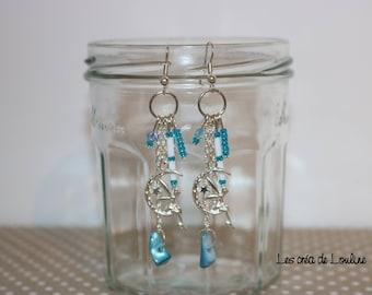Fairy earrings blue