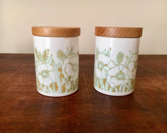 Hornsea fleur salt and pepper shakers condiment set made in england