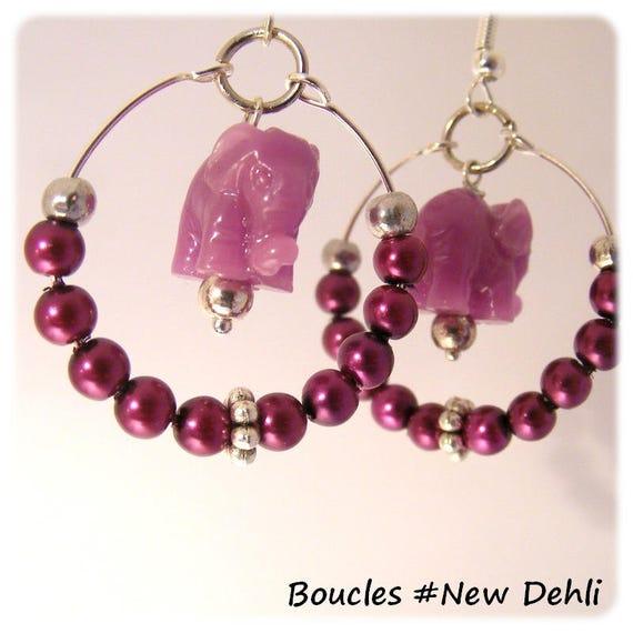 Earrings of a kind Designer [New Delhi] - plum