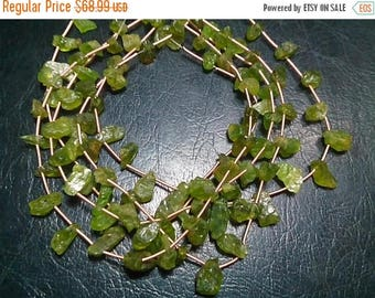 80% OFF SALE 20 Pieces Peridot Rough Beads