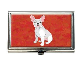 French Bulldog Business Credit Card Holder Case