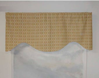 Mill Creek Raymond Waites Linen Filipa Lattice Oak Ridge Valance