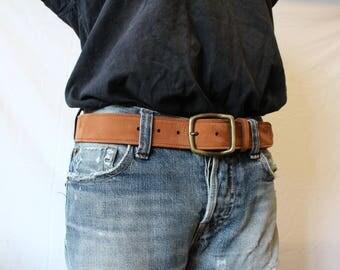Brown leather belt. leather belt. Brown belt; men's belt