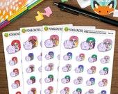 Laptop Mermaids - MerMay Mermaid Work Study Gaming - Planner Stickers (K0118)