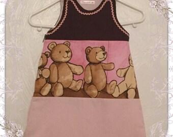 Pink floral baby bear sleeping bag