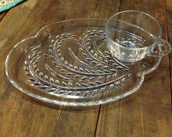 Homestead Snack Set Federal Glass Co.