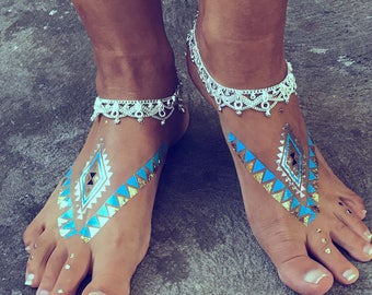 Chained To EDEN anklet by Barefoot Gypsea jewels, indian anklet, gypsy payal, bohemian jewellery, ankle bracelet