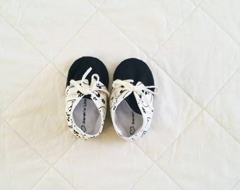 Baby Girls Soft Cat Print Shoes
