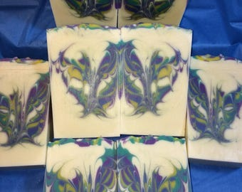 Flowering Herb- Handmade, Cold process soap.