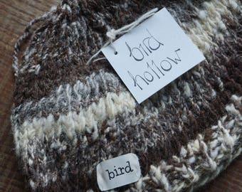Baby hat, Hand Knit Baby Hat, Hand Spun Yarn, merino, Organic Wool, handmade baby hat, wool baby hat