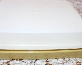 Vintage Harvest Gold Tupperware Deviled Egg Carrier / Tray / Server
