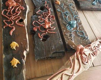 Driftwood Octopus Sculpture