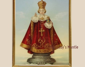 Holy Infant of Prague 8x10  Framed Print Picture Art by Adolfo Simeone