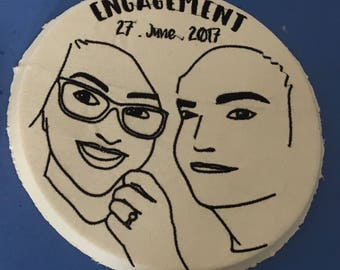 Custom Embroidery Hoop Art // Special Occasion // Engagement Gift
