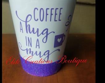 Custom Glitter Mug