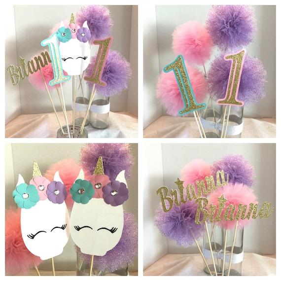 Unicorn Pom Pom Centerpieces Glam Unicorn Centerpieces Pom