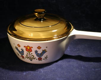 Country Festival Corningware Saucepan with Lid