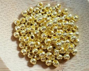 10g mini gold metal beads