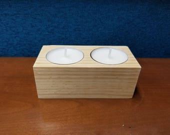 Wooden Tea Light Holder // Wood Candle Holder // Candle Holder // Reclaimed Wood // Reclaimed Tea Light Holder // Tea Light Holder