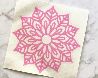 Mandala Light Pink Vinyl Sticker // ONE ONLY!