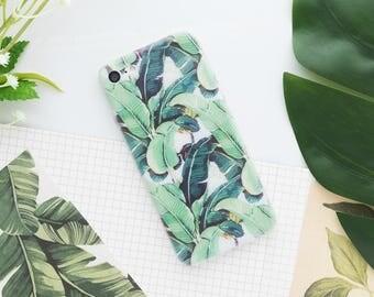 Ferns iPhone Case - iPhone 7 Case, iPhone 7 Plus Case, iPhone 6s Case, iPhone 6s Plus Case, iPhone 5s Case, iPhone SE Case, Banana Leaf Case