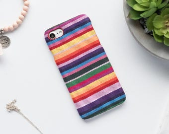 Rainbow Fabric iPhone Case iPhone X Case iPhone 8 Case iPhone 8 Plus Case iPhone 7 Case iPhone 7 Plus Case iPhone 6s Case iPhone 6s Plus Cas