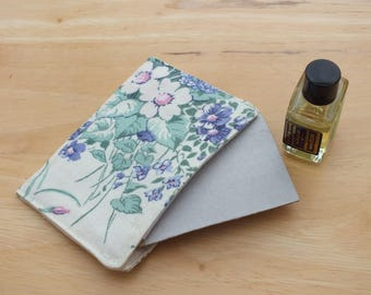 3 Wild Flower Drawer Sachets, Scented Pockets, Floral Scent Packs Refillable, Re-usable Fragrance