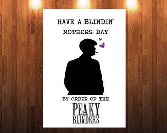 Funny Peaky Blinders Mothers Day Card