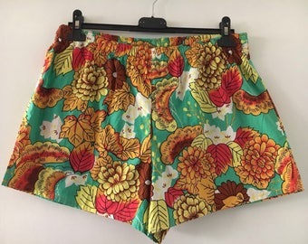 Swimwear Shorts Vintage 90s Flower Print