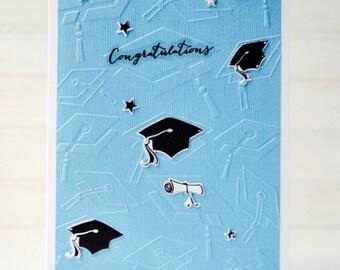 BOYS' GRADUATION Card - Handmade/Homemade High School College Grad Graduation Card