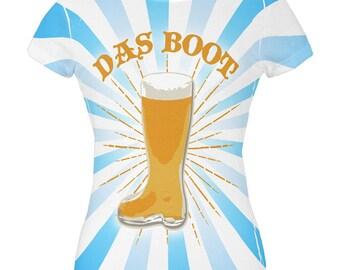 Oktoberfest Das Boot Beer Mug All Over Juniors T Shirt