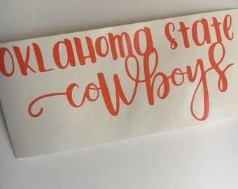 Oklahoma State University | Cowboys | OSU | vinyl | decal | sticker | Yeti | laptop car window