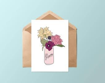 Card • flowers bobbin