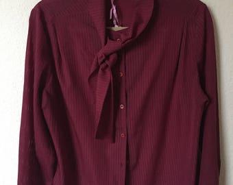 Burgundy vintage blouse