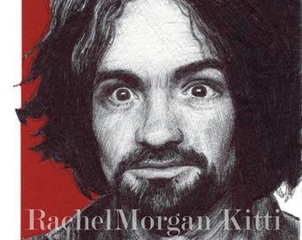 Charles Manson, Cult, Helter Skelter, Murder, Sharon Tate, Manson Family, True Crime, Conspiracy, Art Print