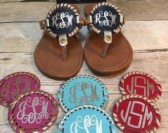 Extra disc for sandals, monogrammed disc for sandals, interchangeable disc for sandals, interchangeable sandal desc