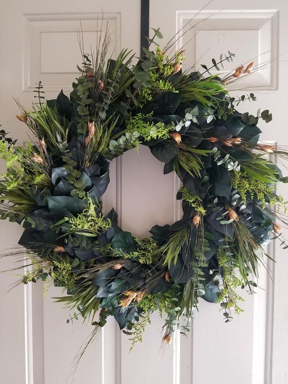 Custom sizes, preserved wreath, wreath, large wreath, small wreath, eucalyptus wreath, leaf wreath, decorative wreath, natural wreath
