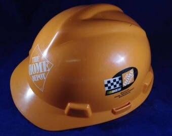 The Home Depot Nascar Hard Hat Helmet Orange Unused Racing