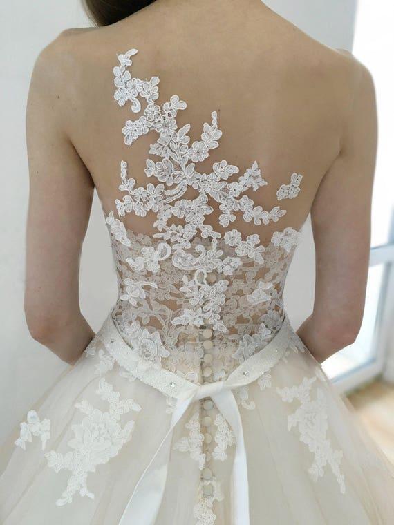 Wedding dress jeneva wedding dress lace back wedding dress like this item junglespirit Images