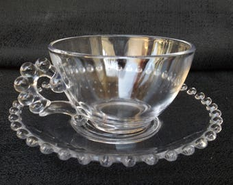 Imperial Candlewick Cup and Saucer 5 Dollar Glass!!!!!!