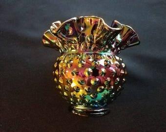 Fenton Carnival Glass Hobnail Vase