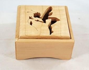 Potpourri Box,Potpourri Holder,Housewarming Gift, Fairy in Maple