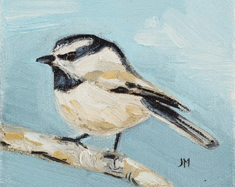 Chickadee Original Oil Painting