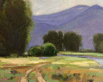 Hulen Meadows, Ketchum Idaho Original Plein Air Oil Painting