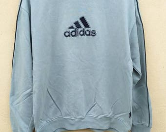 Vintage Adidas Equipment Big Logo sweatshirt Embroidery crewneck spell out jumper