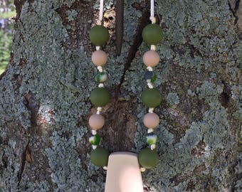 Green Camo Teething Necklace